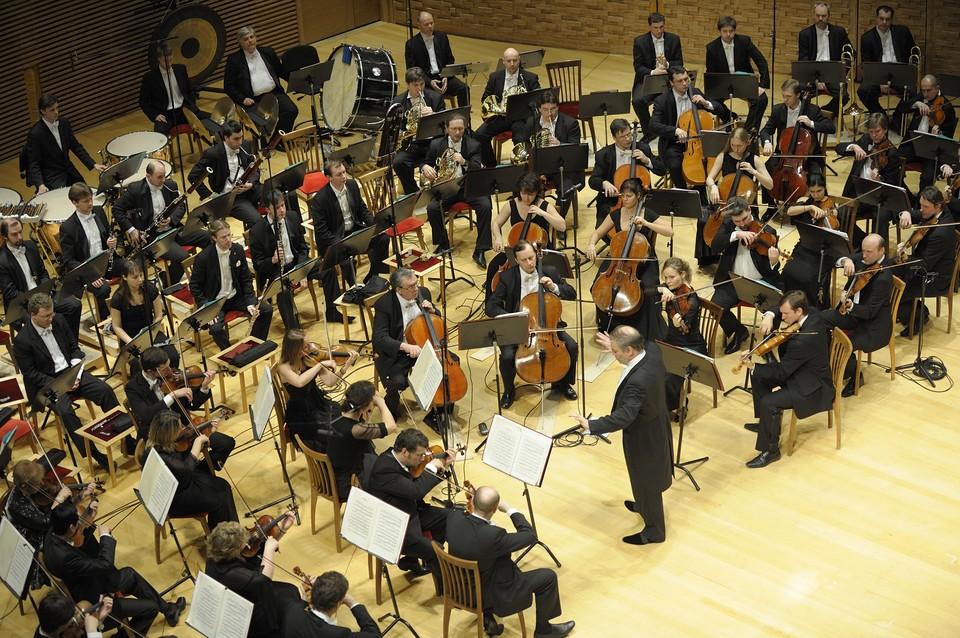 Симфонический оркестр Мариинского театра в концертном зале. Фото: Валентин Барановский