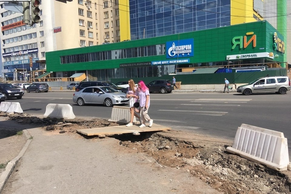 Ремонт на бульваре Ибрагимова идет уже три месяца