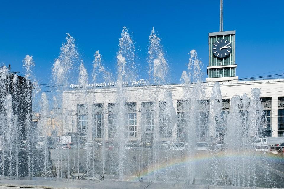 От жары спасут только фонтаны.