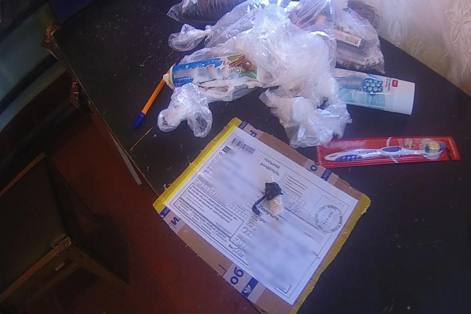 В Ростовской области в посылке для осужденного обнаружили наркотики