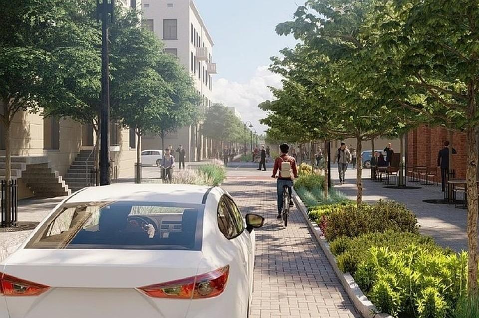 Так должна была выглядеть по проекту улица Чапаева