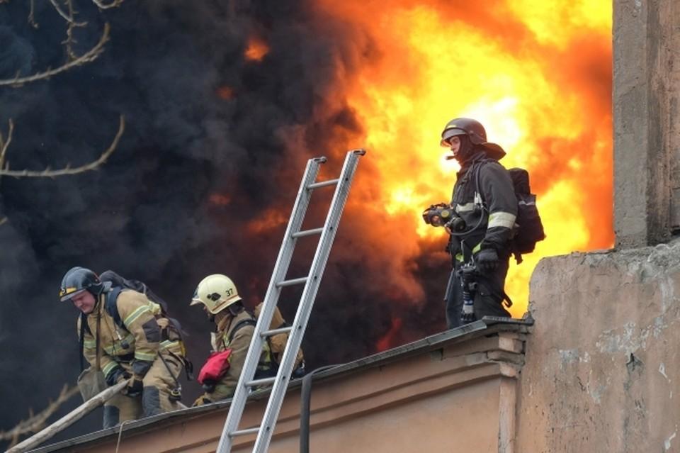 Пожарные прибыли через десять минут после звонка