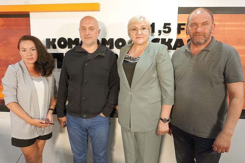 Радио «Комсомольская правда». В студии с Натальей Кравченко.