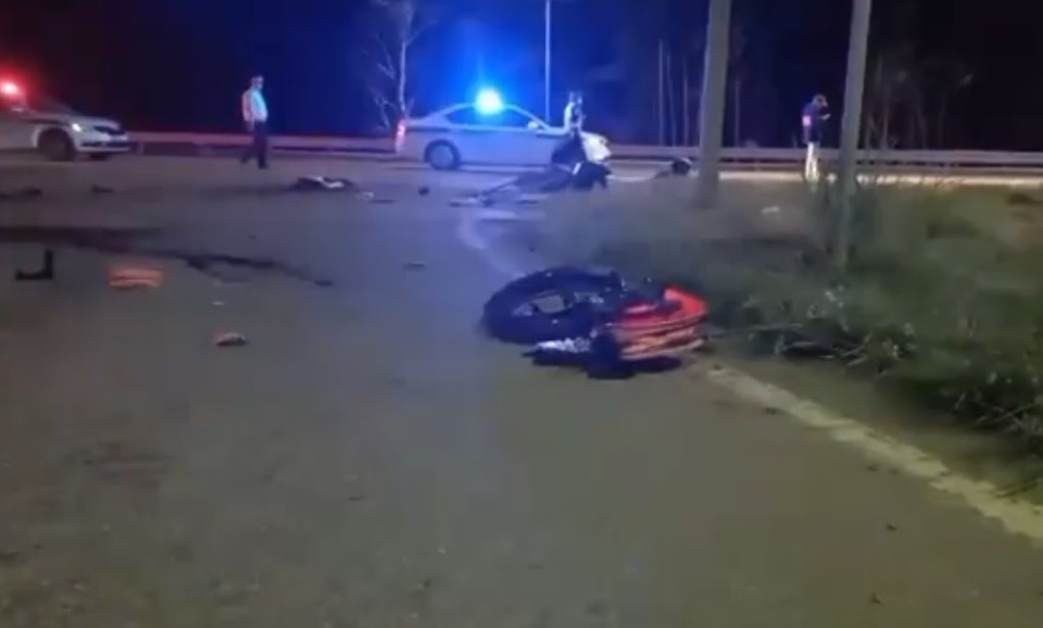 Два мотоцикла столкнулись на 12 км Байкальского тракта, оба водителя погибли. Фото: @gibdd_138