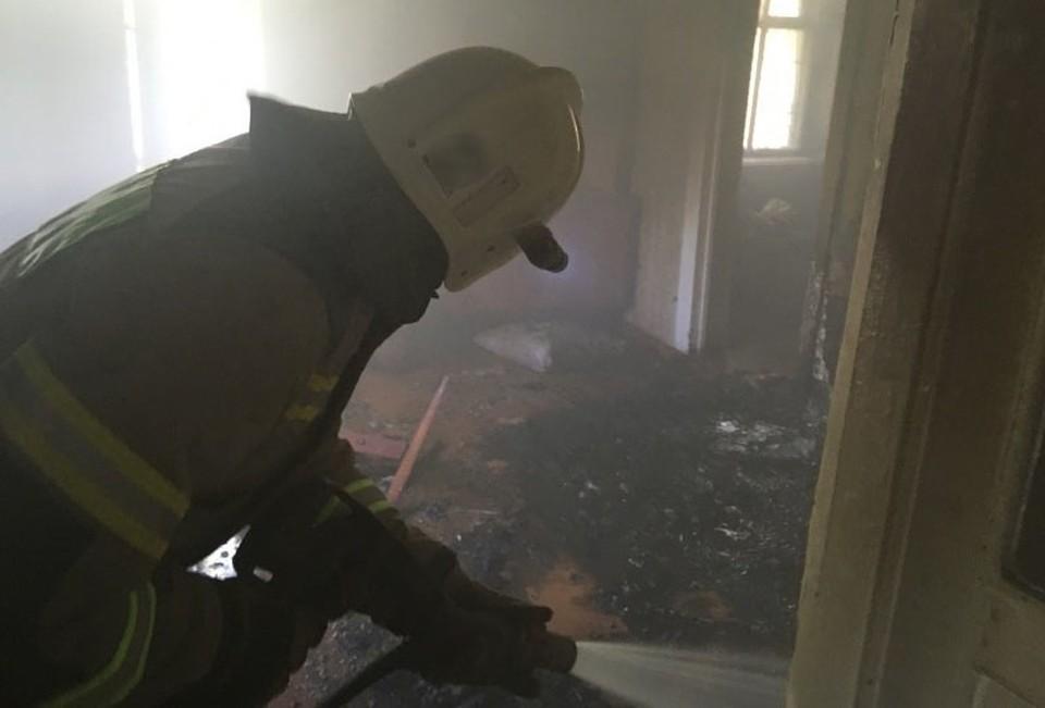 Причина возгорания пока неизвестна. Фото: пресс-служба ГУ МЧС по РК.