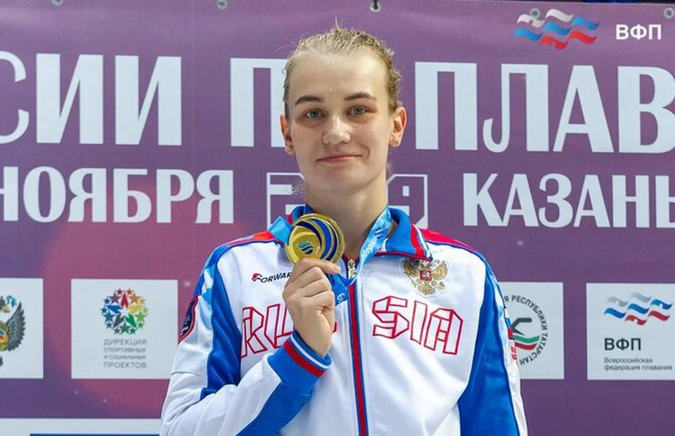 Арина Суркова при хорошем раскладе может принести сборной России сразу четыре медали. Фото: Всероссийская федерация плавания.