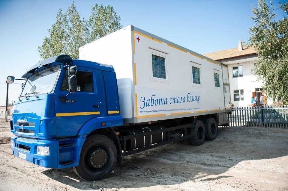 В Астраханской области продолжает работу детская мобильная поликлиника