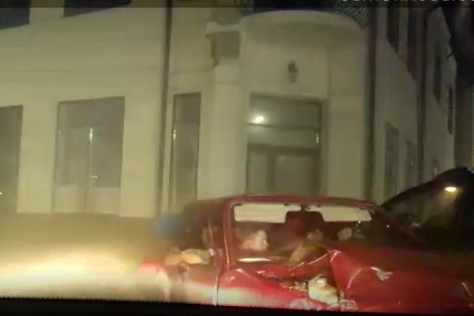Гонка завершилась аварией. Фото: отдел пропаганды УГИБДД по Ростовской области.