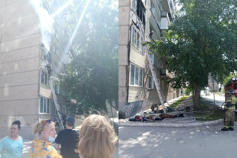 Под Новосибирском пожарные спасли мужчину из горящей высотки. Фото: предоставлено Анной Лопаткиной.