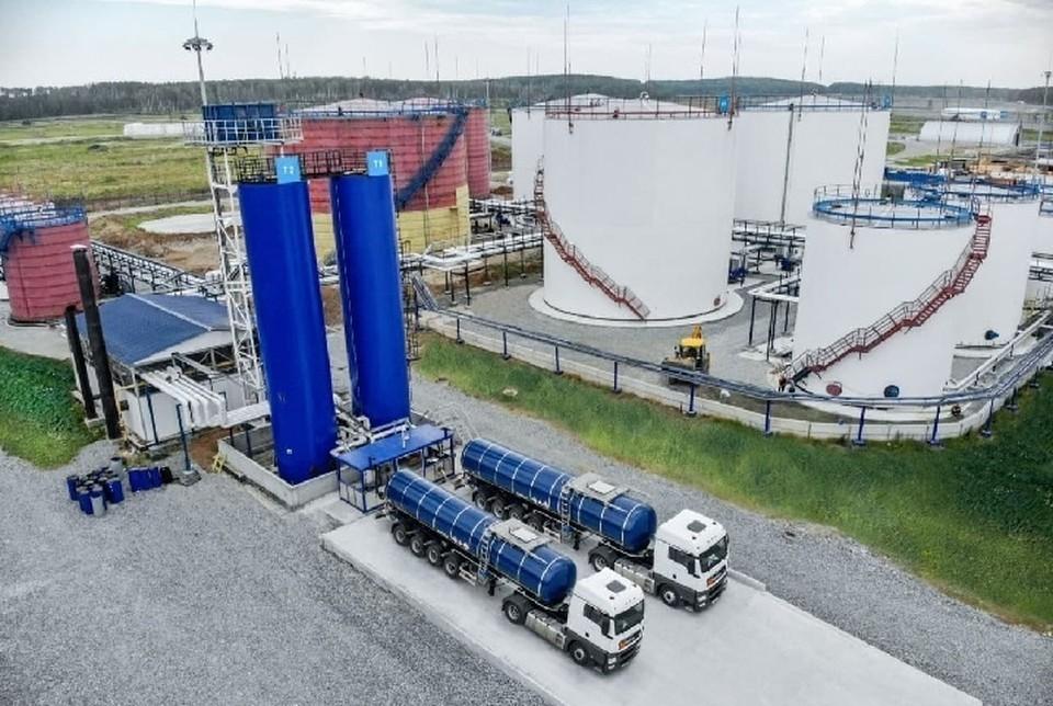 Уральский битумный терминал компании «Газпромнефть – Битумные материалы».