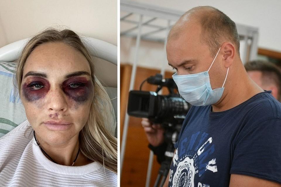 Муж избитой красавицы сам пришел на суд. Фото: соцсети/Алексей Булатов