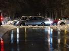 Столичные дороги сковало льдом