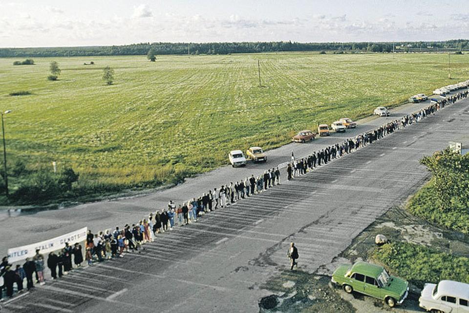 23 августа 1989 года, «балтийский путь»: это, пожалуй, была первая человеческая цепочка, соединившая эстонцев, латышей и литовцев. Позже эта технология неоднократно копировалась.
