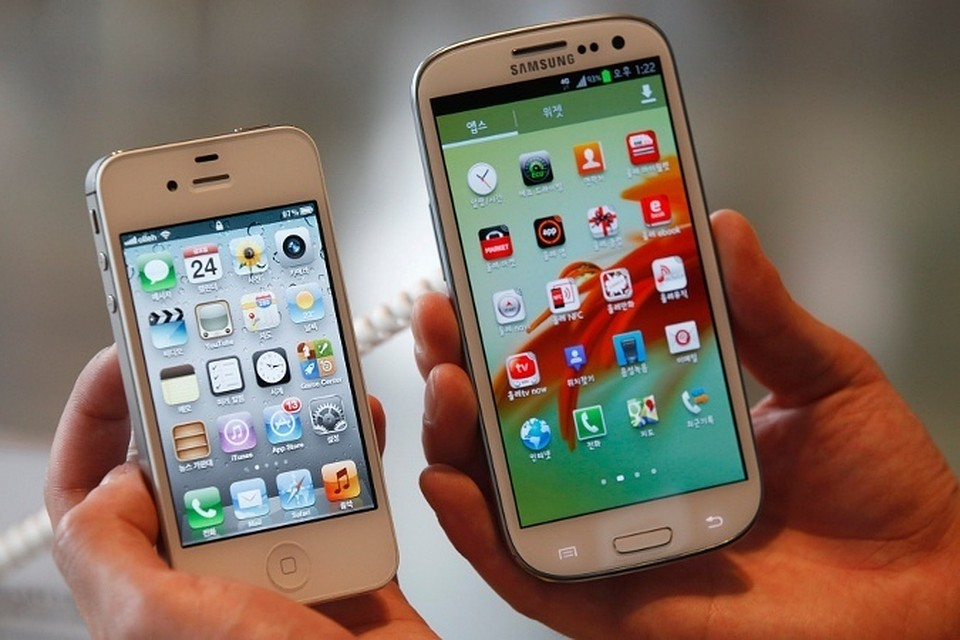 samsung and apple mobile