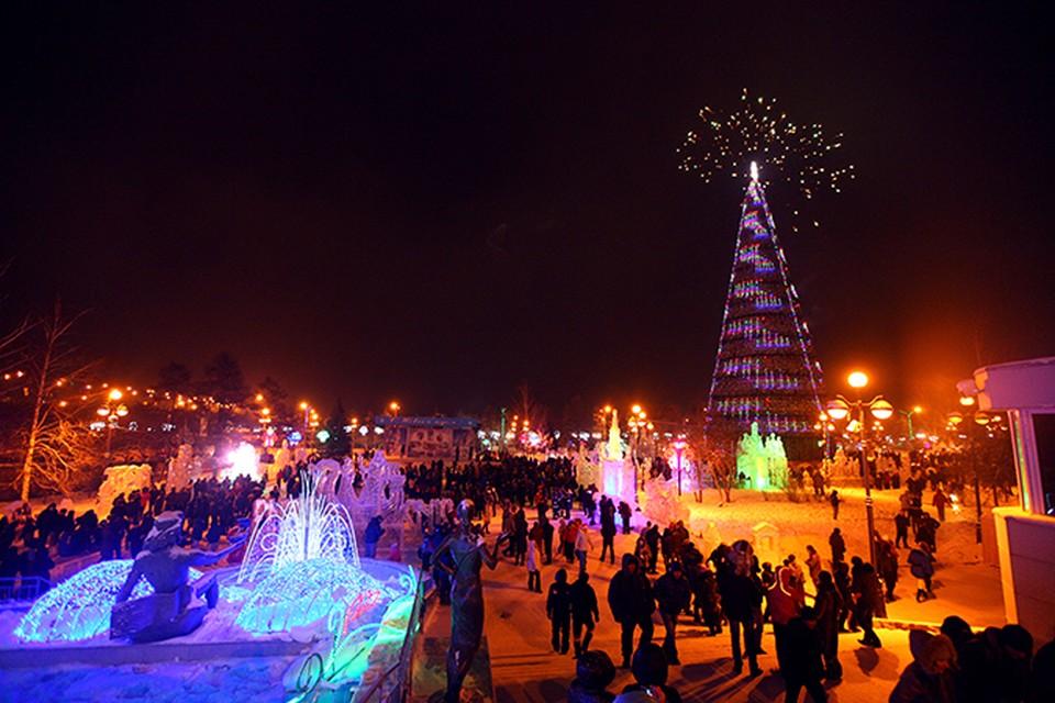 Новогодние праздники в Красноярске глазами фотографа