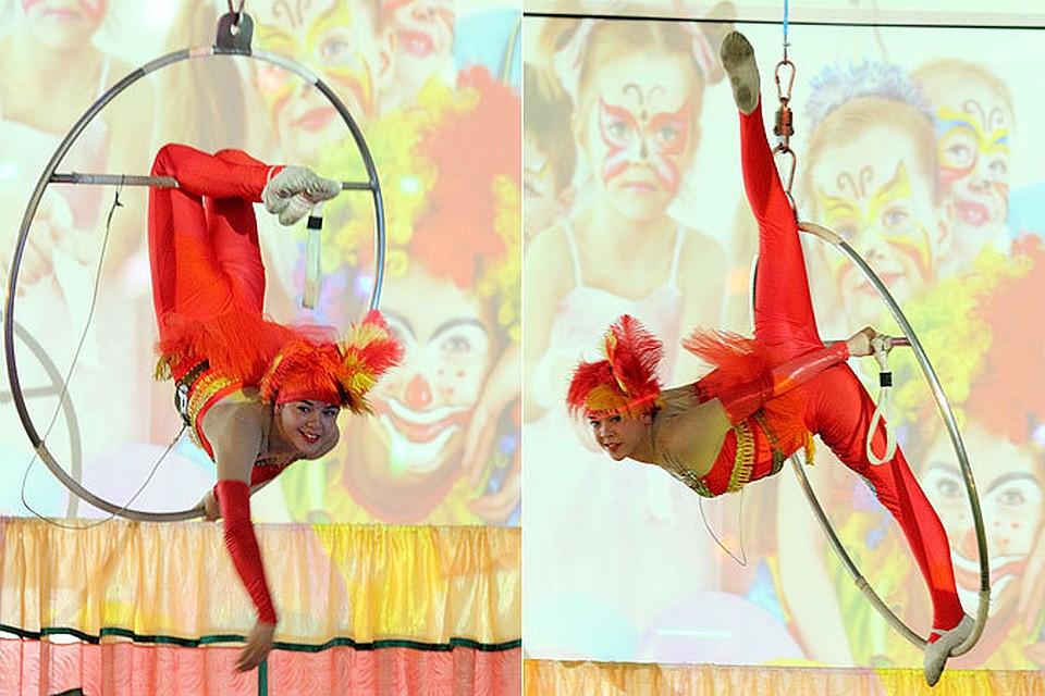 Цирковые номера с сексуальными гимнастками