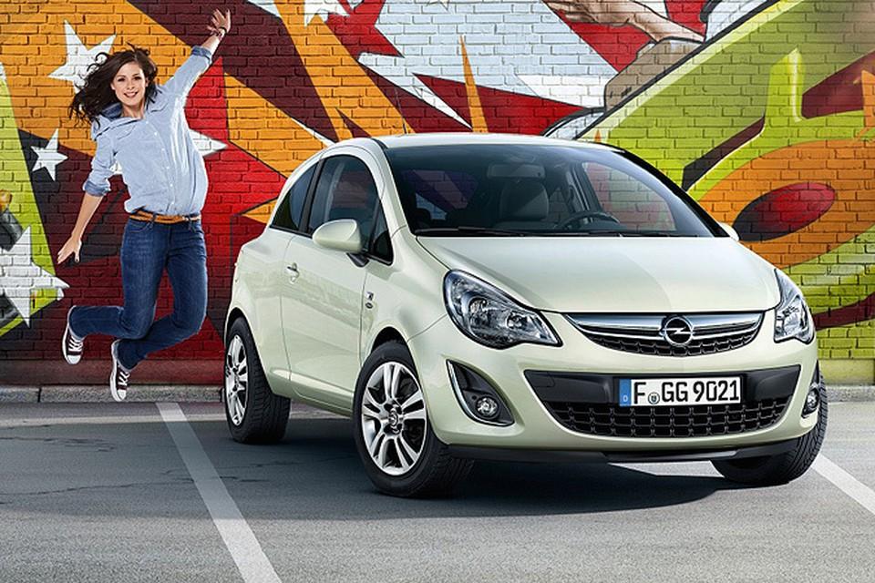 Больше всего Opel Corsa привлекает молодых женщин.