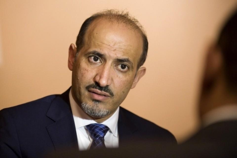 Глава сирийской Национальной оппозиционной Коалиции Ахмед аль-Джарба