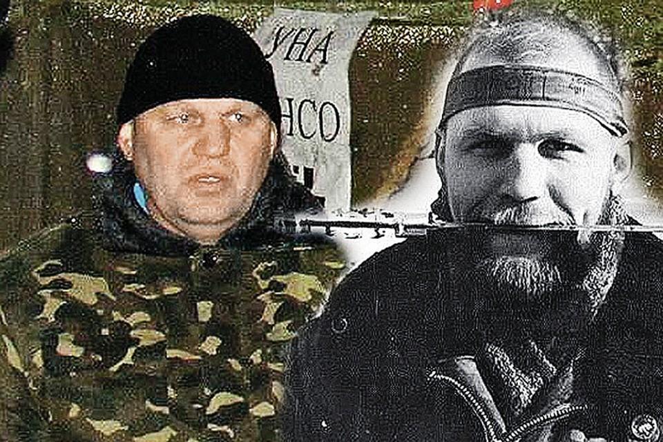 Александр Музычко любит позировать. На фото справа он - с кинжалом в зубах в разгар первой чеченской войны в 1995 году. Фото слева сделано 18 лет спустя, на евромайдане в Киеве.