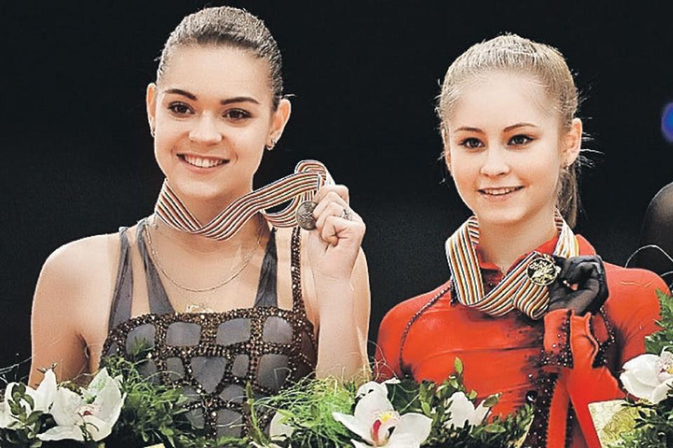 На чемпионате Европы-2014 в Будапеште Аделина Сотникова (слева) проиграла Юле Липницкой.