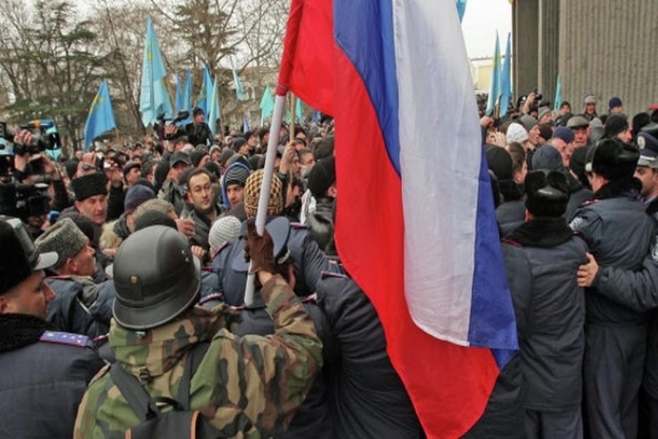 Майдан переместился в Крым.