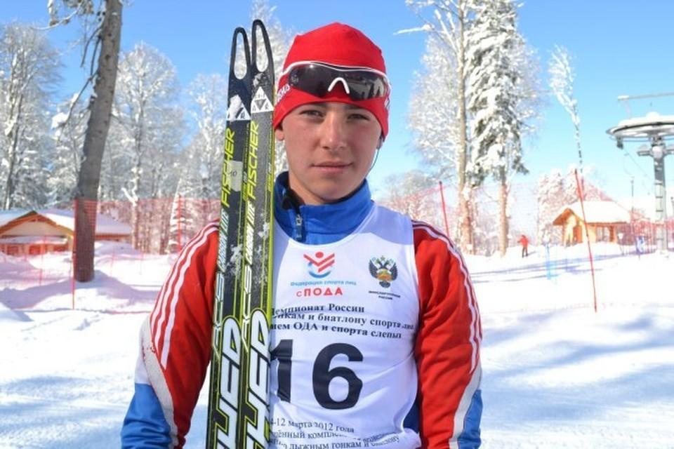 Азат Карачурин на лыжах с детства