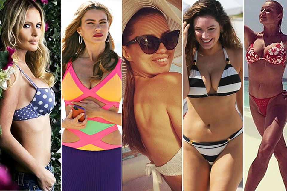 смотреть фото российских знаменитостей девушек в купальниках