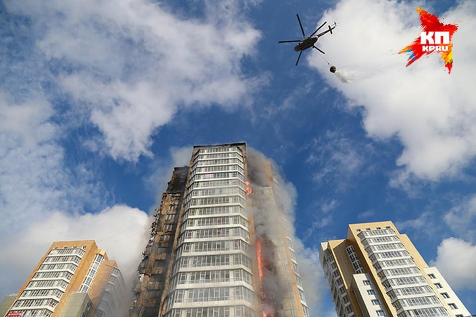 Строители открестились от сгоревшей высотки