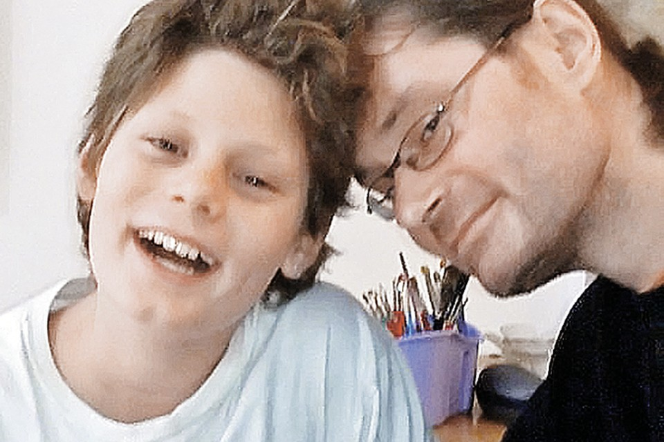 Сын Гафта Вадим и внук Валентин - последнего назвали в честь дедушки-актера. Фото: личный архив.