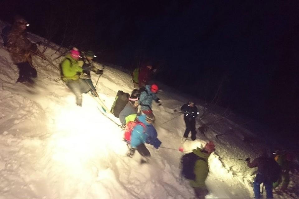ЧП в Иркутской области: три горнолыжника пострадали от схода лавины на горе Мамай. ФОТО: Ангара.нет