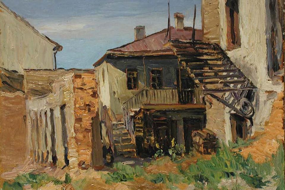 Николай Дучиц. Так в 1944 году выглядели дворики Минска на Интернациональной улице.