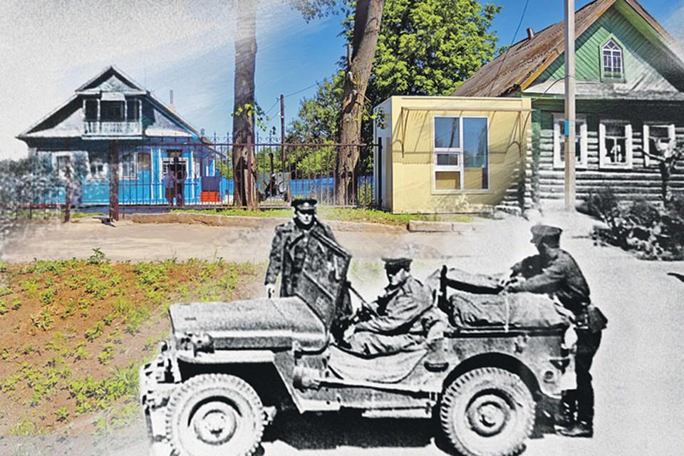 За 72 года избушка (слева)практически  не изменилась.  Мы наложили свежий кадр  на архивный.
