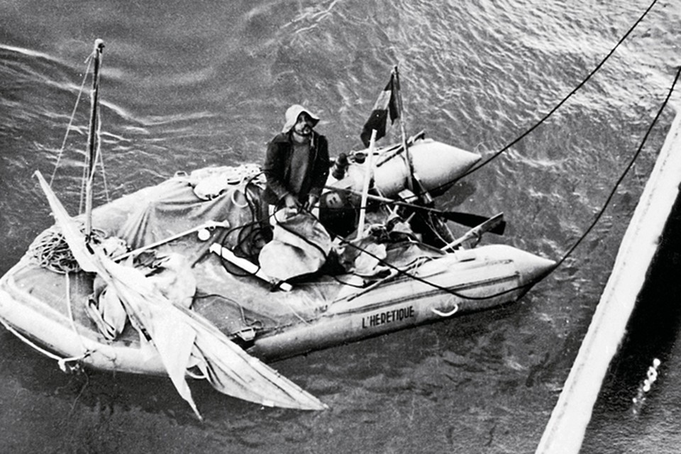 Доктор Бомбар на борту своего «Еретика». 1952 год. Фото: Getty Images