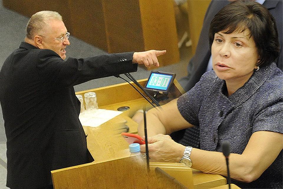 Владимир Жириновский оскорбил Ирину Роднину: «Сидишь здесь, фигуристка! Помолчи!»