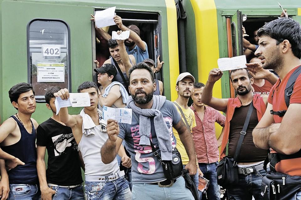 Подавляющее число беженцев - молодые мужчины. А это, как утверждает профессор, верный признак грядущих потрясений. Фото: EAST NEWS