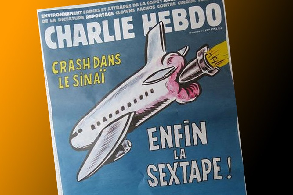 Charlie Hebdo снова поглумился над крушением A-321 в Египте
