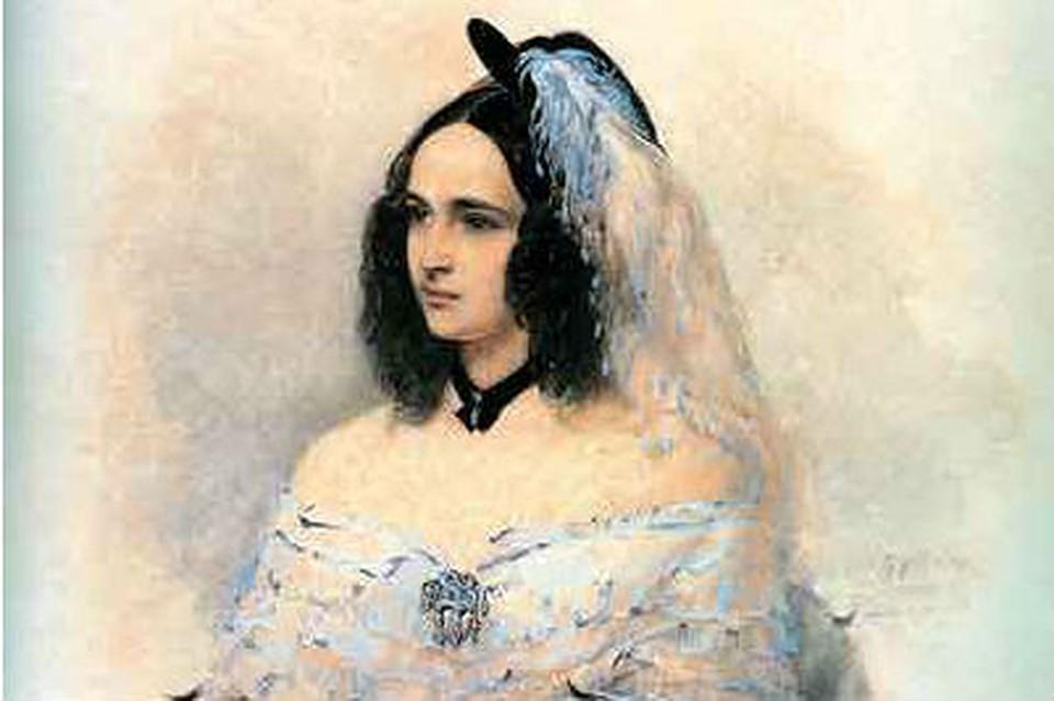 В.И.Гау. Портрет Н.Н.Пушкиной. 1842–1843