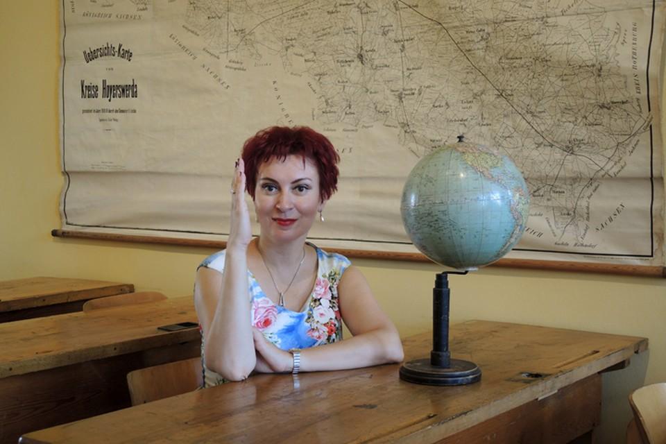 Дарья Асламова в музейной школе ГДР.