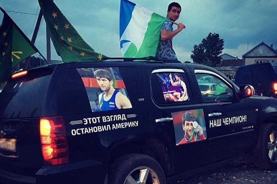 Нальчик ярко встретил Аниуара Гедуева. Фото: instagram.com/neskuchnyi_nalchik