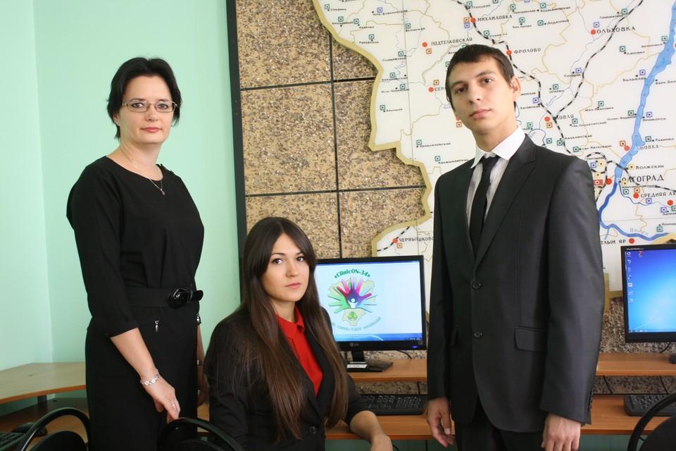 Александр Жиряков, Марина Влазнева и их руководитель Тамара Дьяченко постоянно работают над совершенствованием своего портала.
