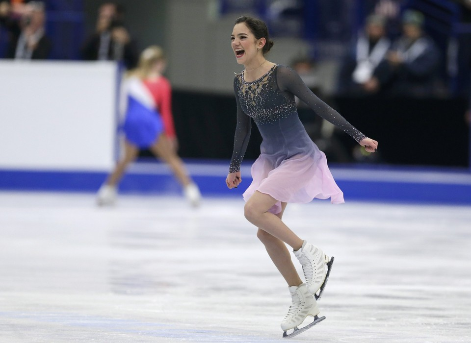 Евгения Медведева - двукратная чемпионка Европы. И это в 17 лет!
