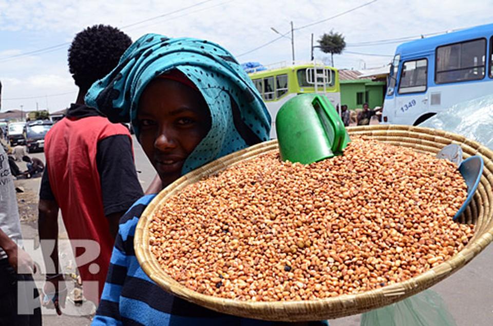 Обычная крестьянское лакомство зерно в сахарной глазури
