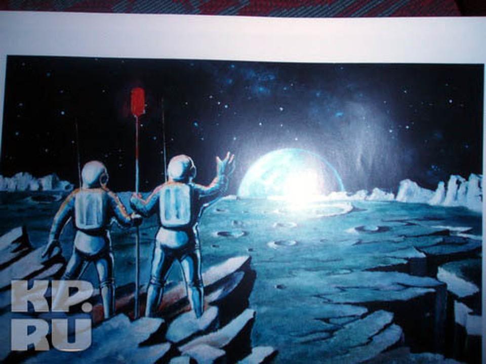 На Луне, он должен был стать первым, кто облетел бы Луну, но проект закрыли