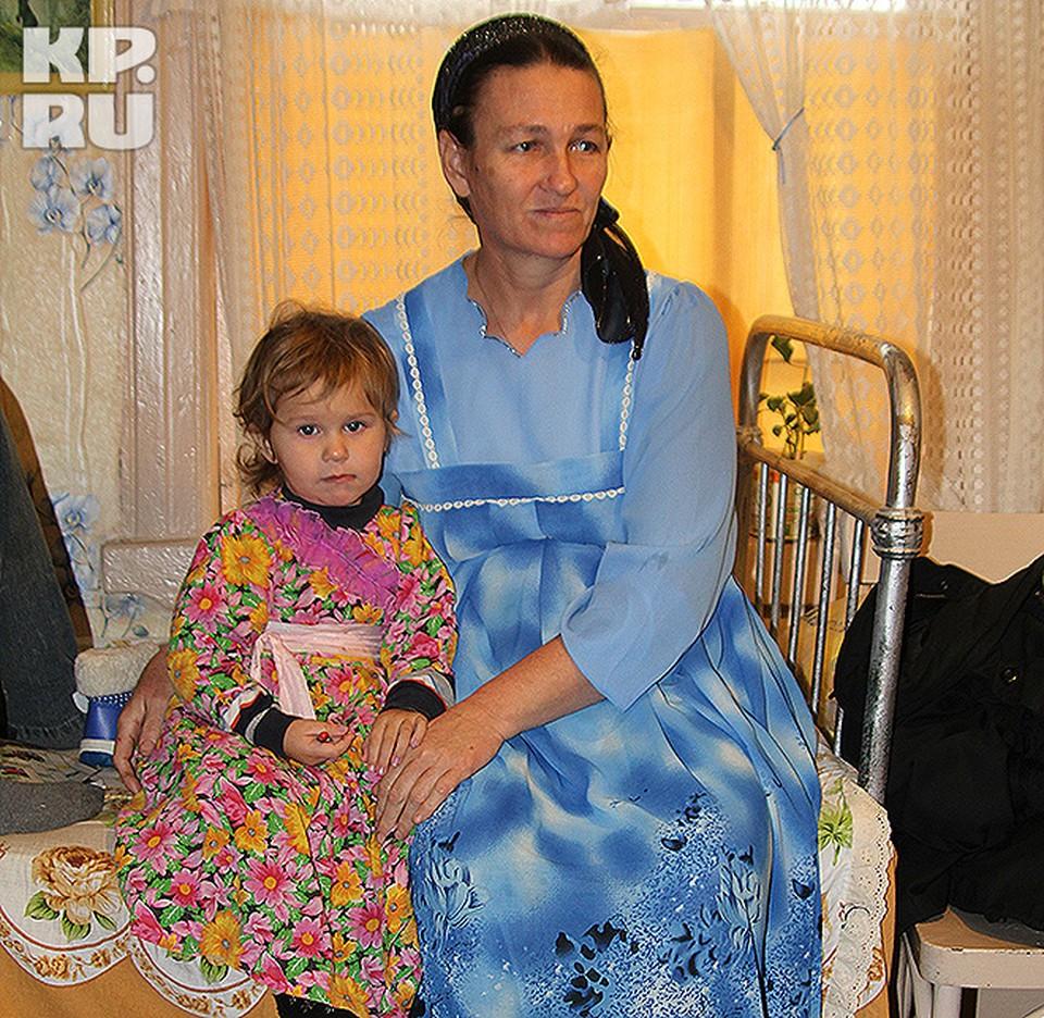 Ксения со своей младшей дочкой Нилой