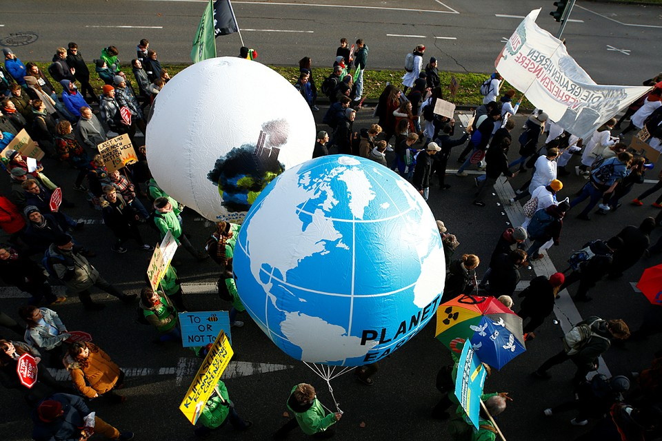 В Кёльне прошел марш против изменения климата
