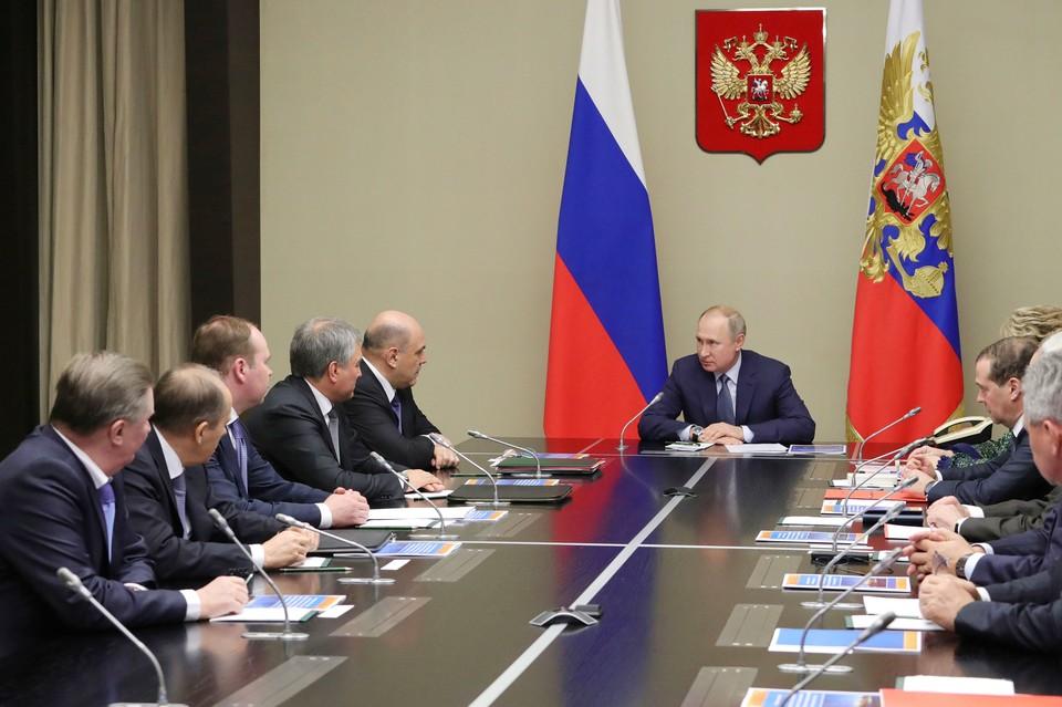 Президент РФ Владимир Путин провел заседание Совета безопасности в обновленном составе.