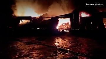 В Пензе крупный пожар - горит ангар на 3500 квадратных метрах