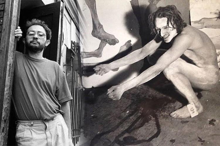 90-е годы. Галерист Марат Гельман и художник Александр Петлюра.