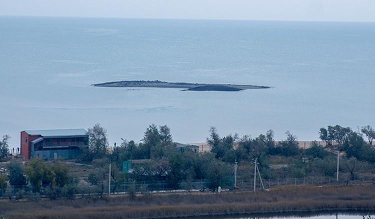 По словам очевидцев, выбросы были около двух метров в высоту в течение получаса. Фото: temruk.info