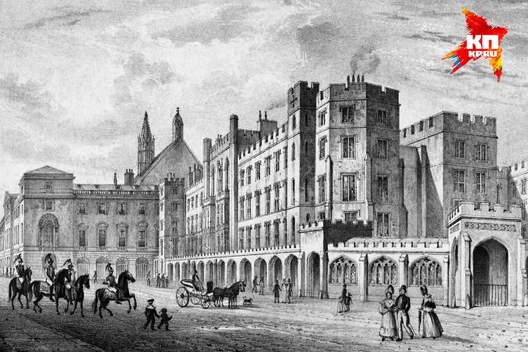 Так выглядел Вестминстерский дворец в Лондоне до пожара 1834 года. После этого его крышу покрыли тагильским кровельным железом